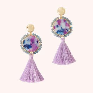 Lilly Pulitzer Bay Dreaming Tassel Earrings NWT